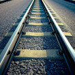 Railroad straight track. — Stock Photo #25082011