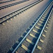 Railroad straight track. - Foto de Stock  