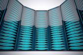 Rack of servers. — Stock Photo