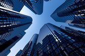 Reflective skyscrapers, business office buildings. — Foto Stock