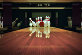 Ten-pin bowling shot. — Stock Photo