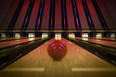 Ten-pin bowling shot. — Foto Stock