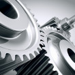 Stock Photo: Close up of machine gears.