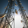 Stock Photo: Communication towers.