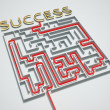 Succes maze. - Stock Photo