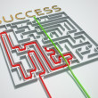 Succes cheated maze. — Stock Photo