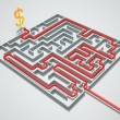 Money maze. — Stock Photo #25589273