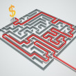 Money maze. — Stock Photo