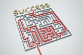Succes maze. — Stock Photo