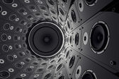 Wall of speakers. — Stock Photo