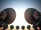 碟形卫星天线. — 图库照片