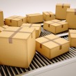 Package sorting. - Stockfoto