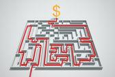 Money maze. — Stock Photo