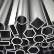 Stock Photo: Aluminium profiles.