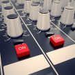 Audio Console. — Stockfoto