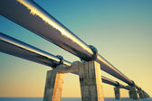 Pipeline sunset. — Stock Photo
