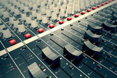 Audio Console. — Stock Photo
