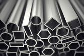 Aluminium profiles. — Stock Photo
