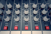 Audio Console. — Stock Photo