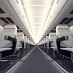 Airplane seats. — Stock Photo