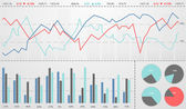 Stock market charts. — Stock Photo