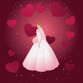 Young beautiful bride — Stock Vector
