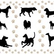 Royalty-Free Stock Vector Image: Cover with the silhouettes of the dogs