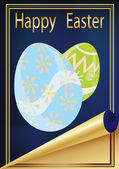 Vector illustration, Easter card — Stock Vector