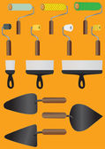 Vector illustration, set of icons building tools — Stockvector