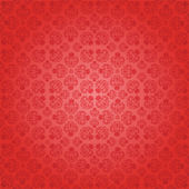 Decorative red seamless wallpaper, vector illustration — Stock Vector