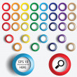 Vector set of the buttons in different colors — Stock Vector