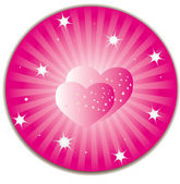 Heart in heart — Stock Vector
