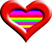 Un corazón gradiente-0051 — Foto de Stock