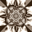 Постер, плакат: Geometric fantasy in sepia tone A 0095