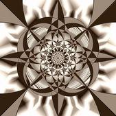 Geometric fantasy in sepia tone. A-0095. — Stock Photo