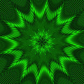 Geometric fantasy in green tone. A-0101. — Stock Photo