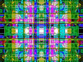 Geometric abstract multicolored ornament backgroun . A-0167. — Stock Photo