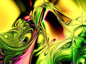 Gorgeous fractal colorful glass tiles in the style of comput — Stock Photo