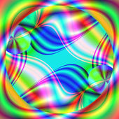 Gorgeous fractal colorful glass tiles in the style of computer g — Stock Photo