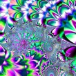 Постер, плакат: Gorgeous colorful fractal fantastic flower pattern style orname
