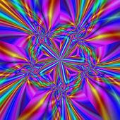 Nádherné barevné fraktální barevné ozdoby ve stylu modelu com — Stock fotografie