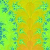Wspaniałe kolorowe fraktal kolorowy kwiatowy ozdoby w stylu — Zdjęcie stockowe