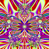 Gorgeous colorful fractal colorful ornaments in the style of com — Stock Photo