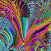 Gorgeous colorful fractal, fantastic flower pattern style orname — Stock Photo