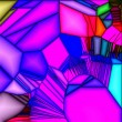 Stained glass mosaic, geometric abstract art ornament. A-03 — Stock Photo