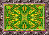 Multi-barevné ornamentální výzdobou, kouzelná nádhera, úžasné h — Stock fotografie