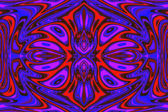 Multi-colored ornamental decoration, magic splendor, wonderful h — Stock Photo