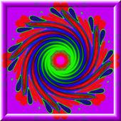 La caratteristica decorativa colorata frattale, magico splendore, meraviglioso h — Foto Stock