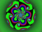 Colorful fractal decorative feature, magic splendor, wonderful h — 图库照片