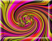 Spontaneous harmony swirl in in multicolored colors and strictly — Stock Photo
